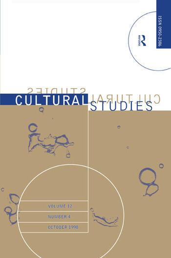 Cultural Studies - Vol. 12.4 The Institutionalization of Cultural Studies book cover