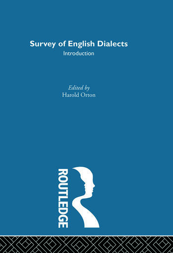 Survey Eng Dialects-Introdctn book cover