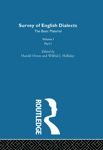 Survey Eng Dialects Vol1 Prt1 book cover