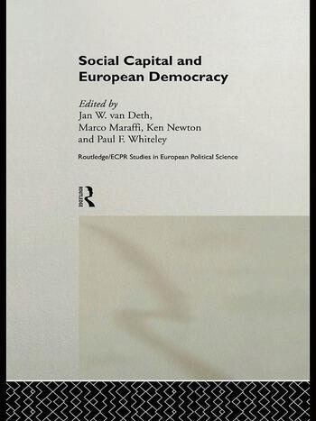 Social Capital and European Democracy book cover