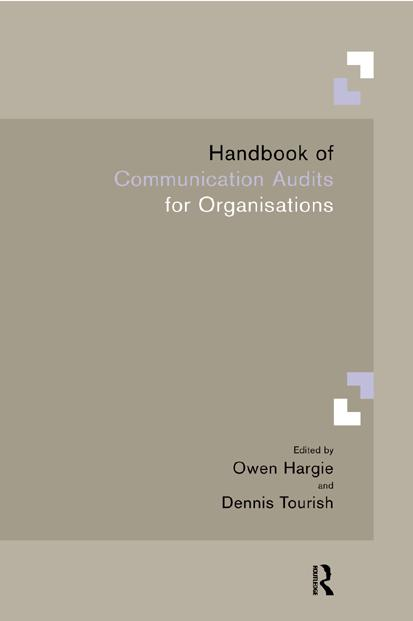 Handbook of Communication Audits for Organisations book cover