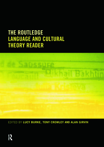The Routledge Language and Cultural Theory Reader book cover