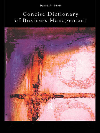 The Concise Dictionary of Business Management book cover