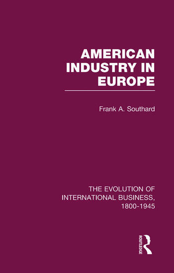 American Industry Europe V6 book cover