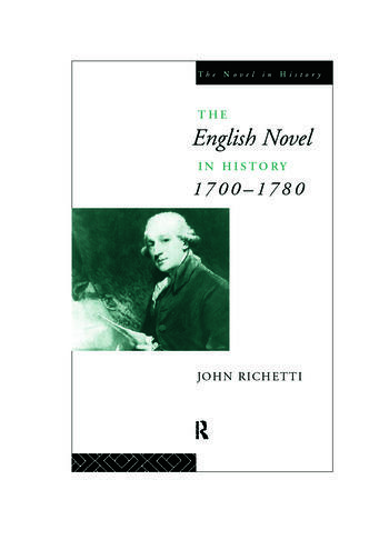 The English Novel in History 1700-1780 book cover