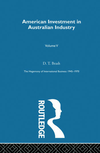 American Invest Australn Indus book cover
