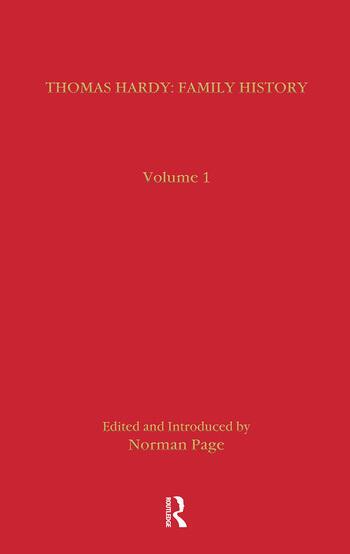 Thomas Hardy: Family History book cover