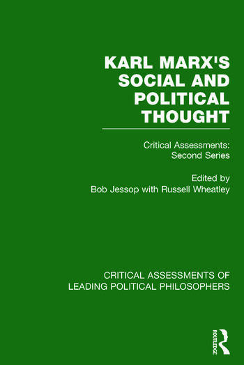 Marx's Social and Political Thought II (Vols. 5-8) Critical Assessments: Second Series book cover