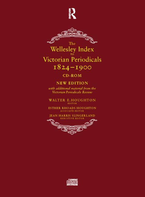 The Wellesley Index to Victorian Periodicals 1824-1900, CD-ROM book cover
