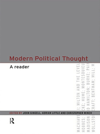 Modern Political Thought A Reader book cover