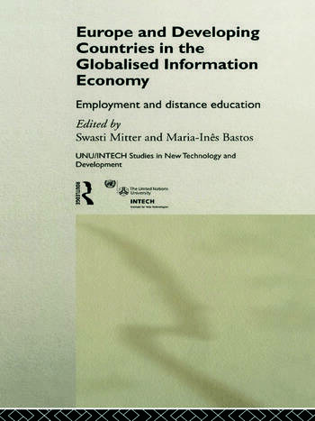 Europe and Developing Countries in the Globalized Information Economy Employment and Distance Education book cover