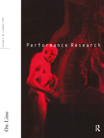 Performance Research On Line book cover