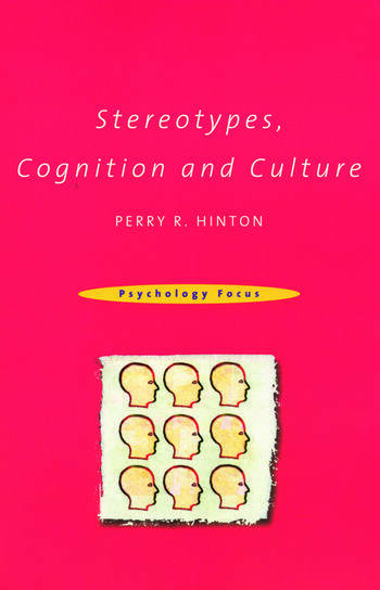 Stereotypes, Cognition and Culture book cover