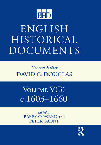 English Historical Documents, 1603–1660 book cover