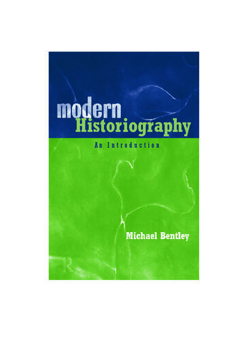 Modern Historiography An Introduction book cover