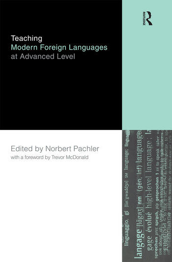 Teaching Modern Foreign Languages at Advanced Level book cover