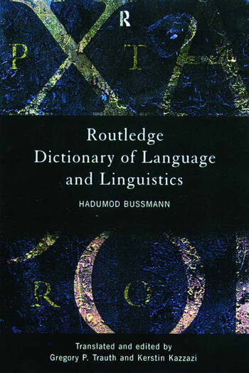 Routledge Dictionary of Language and Linguistics book cover