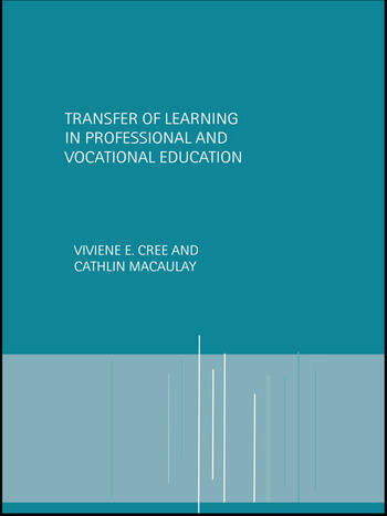 Transfer of Learning in Professional and Vocational Education Handbook for Social Work Trainers book cover
