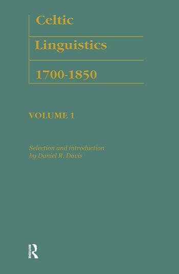 Celtic Linguistics 1700-1850 book cover