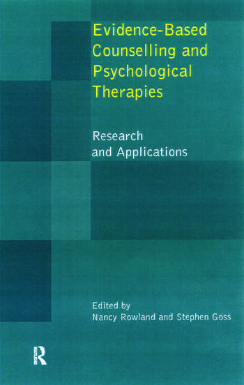 Evidence Based Counselling and Psychological Therapies Research and Applications book cover