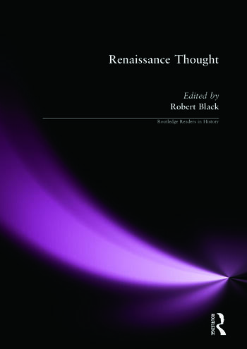 Renaissance Thought A Reader book cover