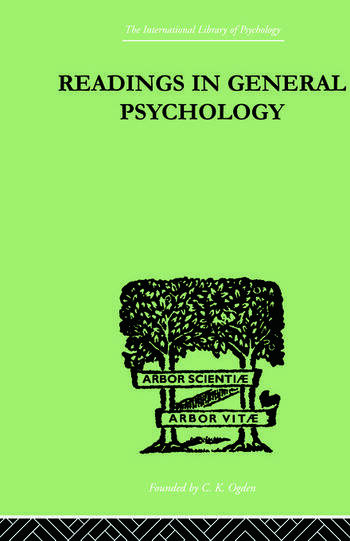 Readings In General Psychology book cover