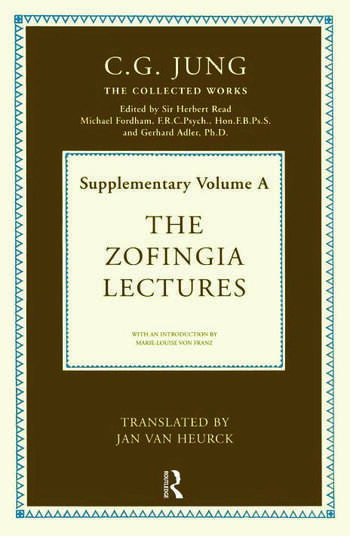 The Zofingia Lectures Supplementary Volume A book cover