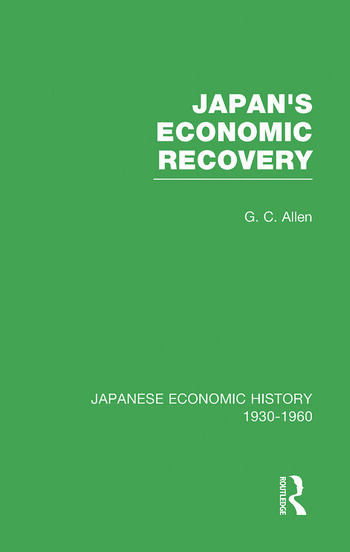 Japans Econ Recovery V 1 book cover
