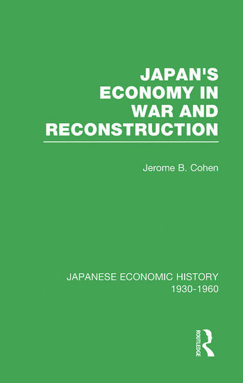 Japans Econ War&Reconstrct V 2 book cover