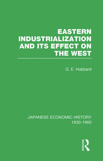 Eastern Indust&Effect West V 3 book cover