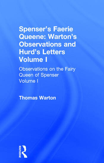 Observations On Fairy Queen V1 book cover