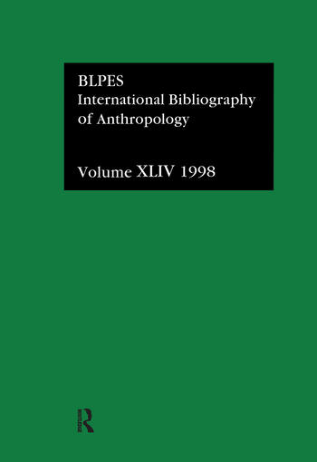 IBSS: Anthropology: 1998 book cover