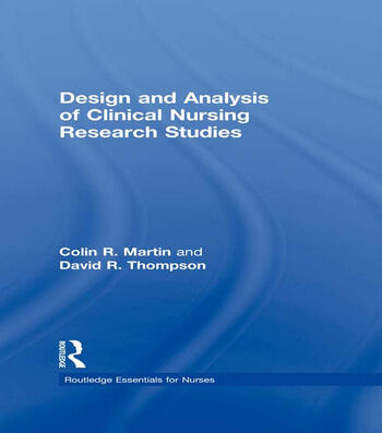 Design and Analysis of Clinical Nursing Research Studies book cover