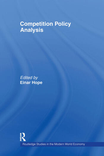 Competition Policy Analysis book cover