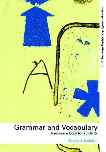 Grammar and Vocabulary A Resource Book for Students book cover