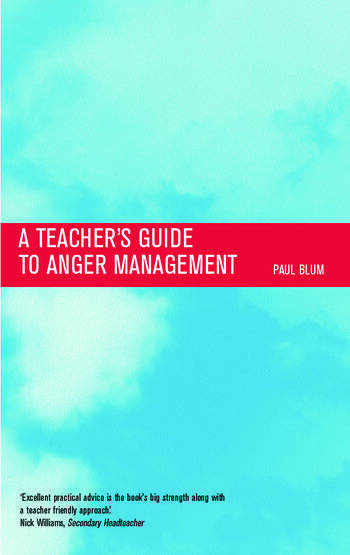 Teacher's Guide to Anger Management book cover