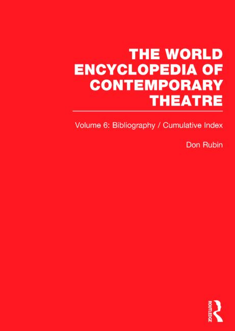 World Ency Cont Theatre V1-6 book cover