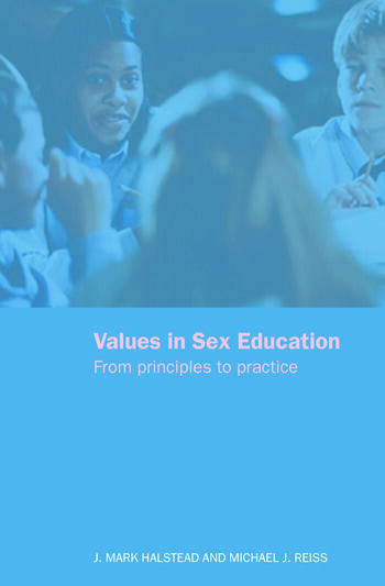Values in Sex Education From Principles to Practice book cover