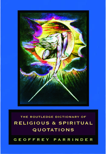The Routledge Dictionary of Religious and Spiritual Quotations book cover