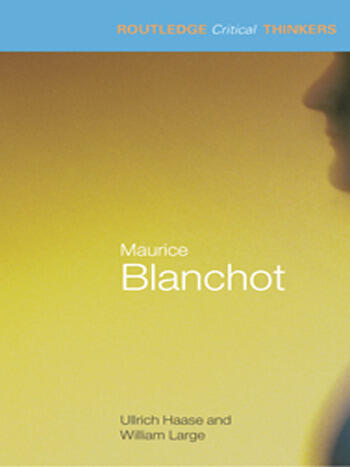 Maurice Blanchot book cover