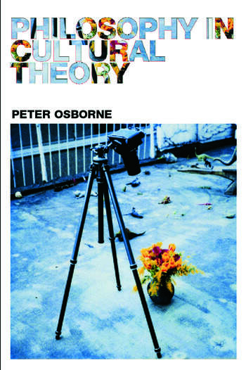 Philosophy in Cultural Theory book cover
