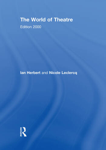 The World of Theatre Edition 2000 book cover