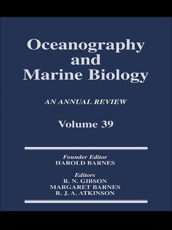 Oceanography and Marine Biology, An Annual Review, Volume 39 An Annual Review: Volume 39 book cover