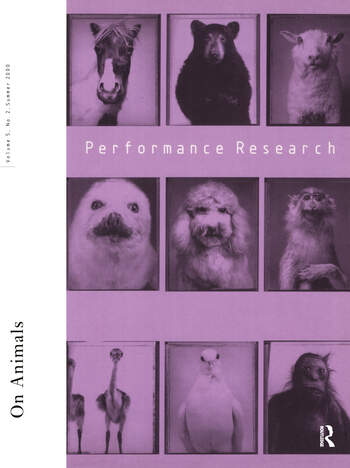 Performance Research V5 Issu 2 book cover