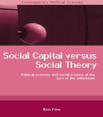 Social Capital Versus Social Theory book cover