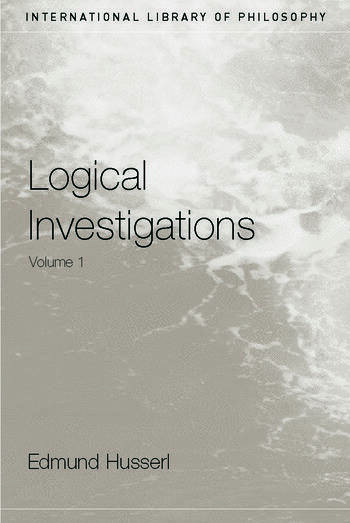 Logical Investigations Volume 1 book cover