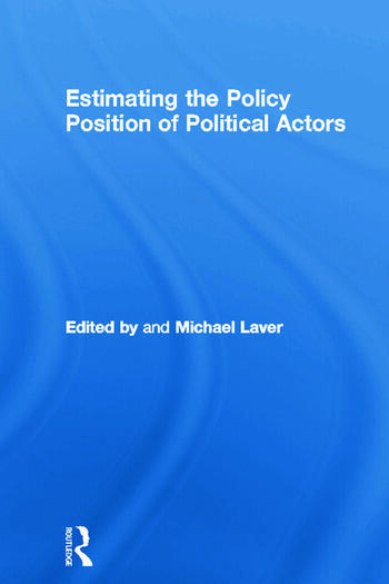 Estimating the Policy Position of Political Actors book cover