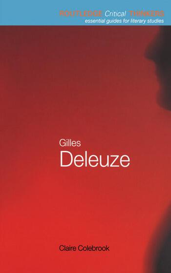 Gilles Deleuze book cover