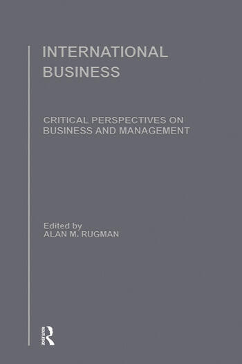 International Business Critical Perspectives on Business and Management book cover