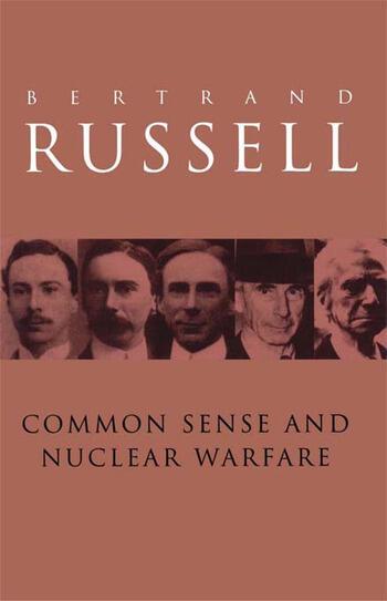 Common Sense and Nuclear Warfare book cover